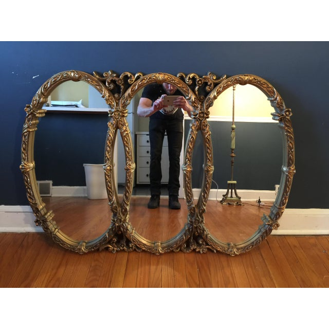 Gold Gilt Triple Mirror - Image 3 of 6