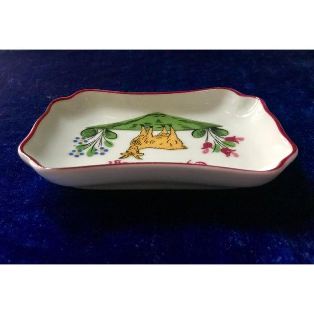 Limoges, France Vintage Chateau De La Chèvre d'Or Eze Village French Limoges Trinket Soap Dish For Sale - Image 4 of 8