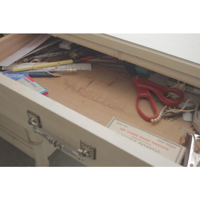 1970's Chinoiserie Henry Link Faux Bamboo Writing Desk For Sale In Tampa - Image 6 of 7
