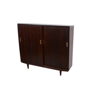 Rosewood Bookcase Cabinet For Sale