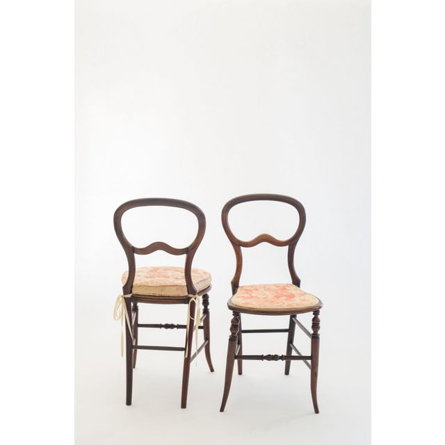 Pair of Mahogany Balloon-Back Chairs/Bennison Seats For Sale In Savannah - Image 6 of 7