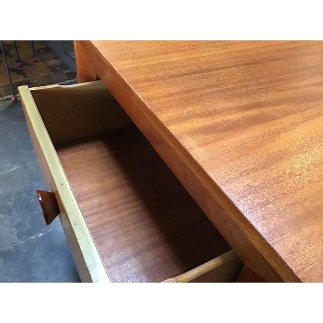 1970s Scandinavian Modern Teak Oversized Side Table For Sale In Los Angeles - Image 6 of 11
