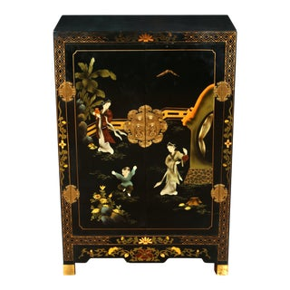Small Asian Chinoiserie Cabinet For Sale