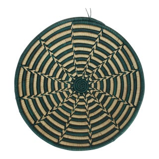 Ghanian Green Starburst Basket For Sale