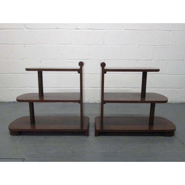 Pair of Art Deco Streamline Three Tier End Tables For Sale - Image 9 of 9