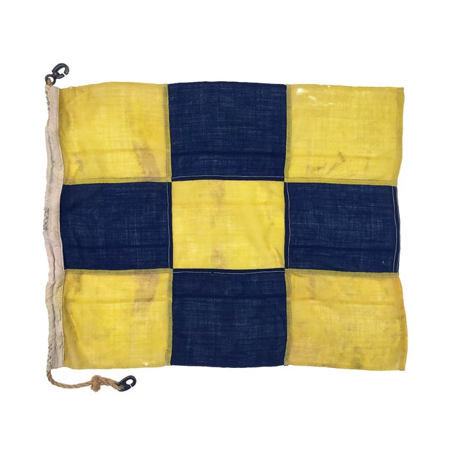 1940s Nautical Wool Signal Flag For Sale In Los Angeles - Image 6 of 6