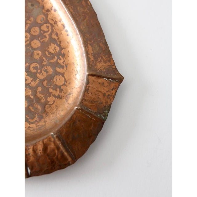 Metal Mid-Century Hammered Copper Tray For Sale - Image 7 of 9