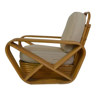 Paul Frankl Style Rattan Lounge Chairs - A Pair