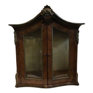 Early 20th Century French Curio Wall Cabinet For Sale