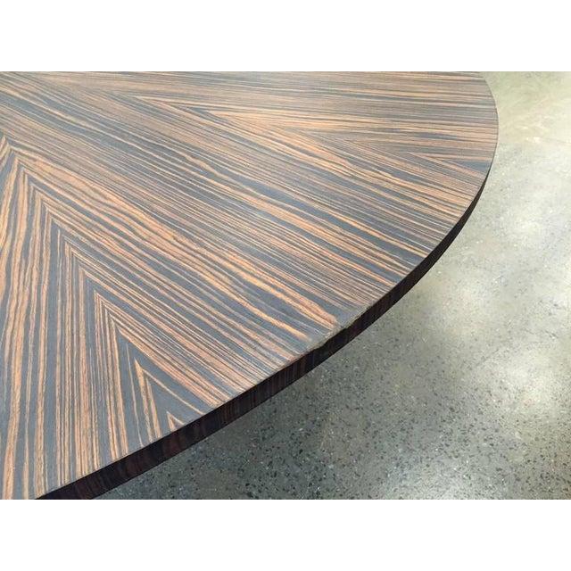 Large Italian Zebra Wood Center Table For Sale - Image 4 of 5
