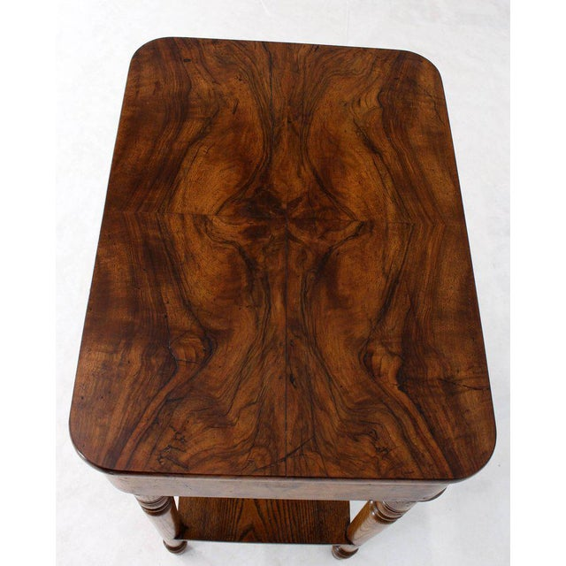 Beautiful 19th century burl wood sewing stand good original condition.