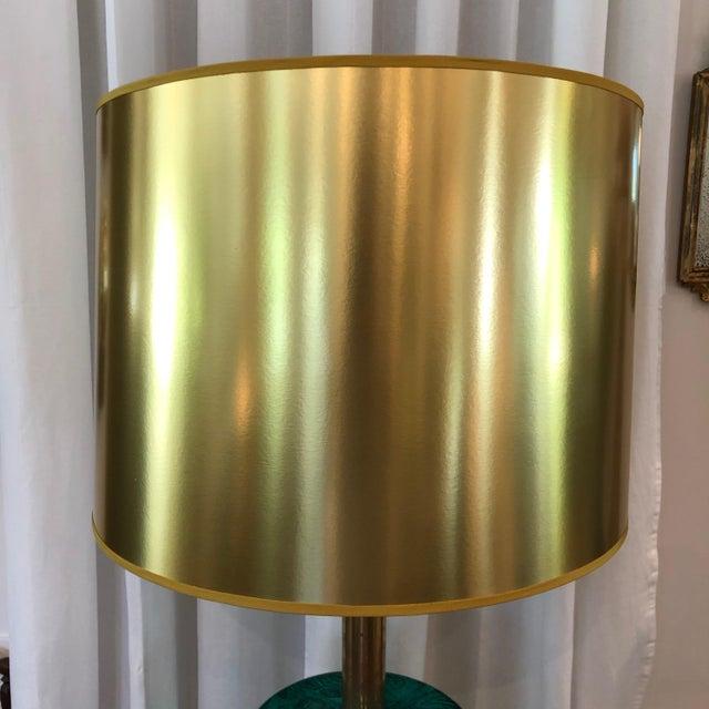 Piero Fornasetti Piero Fornasetti Italian Faux Malachite Floor Lamp For Sale - Image 4 of 9