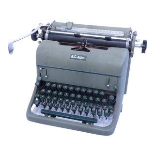 R C Allen Typewriter For Sale