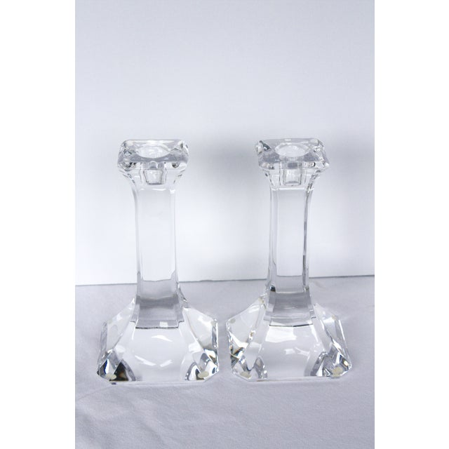 Orrefors Crystal Candlesticks - A Pair - Image 4 of 4