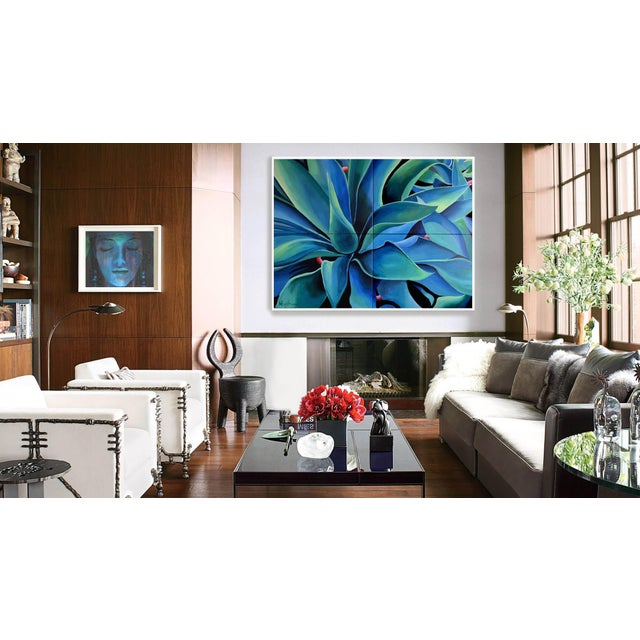 Silver Blue Agave Painting - Image 6 of 8