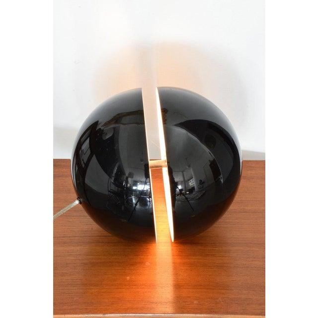 Mid-Century Modern 20th Century Globe Table Lamp by Andrea Modica for Lumess, 1980's For Sale - Image 3 of 9