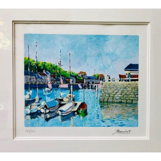 1980s Andre Bardet Signed Nautical Serigraph Print Preview