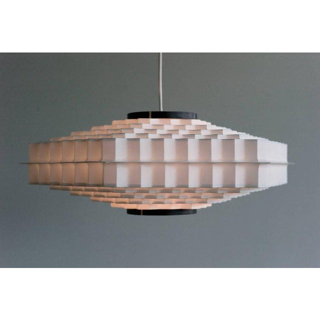 Mid-Century Modern Architectural Honeycomb Pendant For Sale - Image 3 of 6
