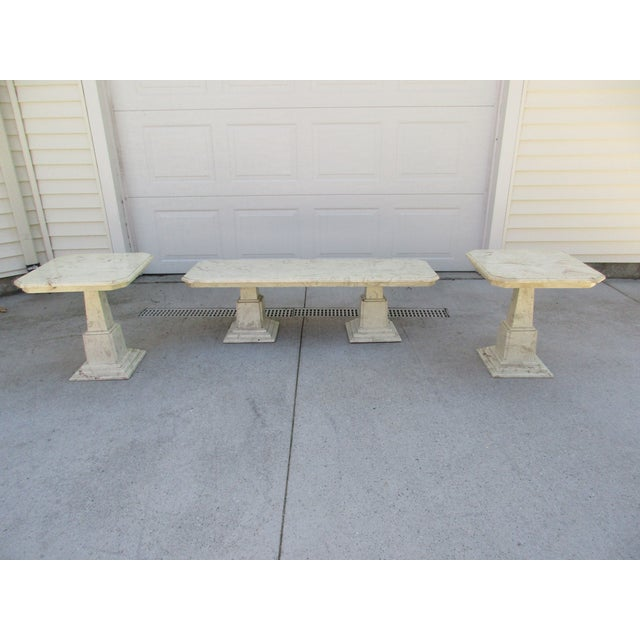 Marble End Tables and Coffee Table - Set of 3 - Image 2 of 11
