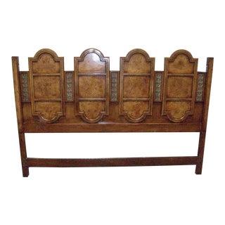 Hollywood Regency Thomasville King Headboard Burled Wood Headboard For Sale