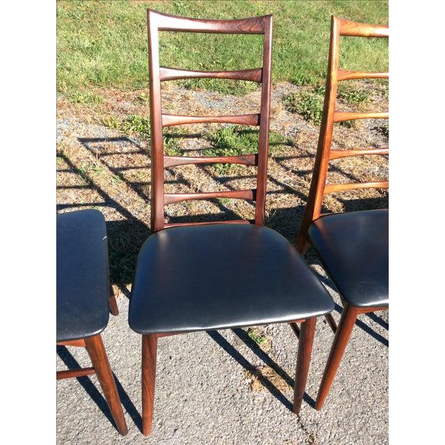Niels Koefoed Rosewood & Teak Chairs - Set of 6 - Image 8 of 10