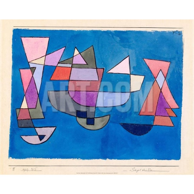 Paul Klee - Sailing Boats - Inspired Silk Hand Woven Area - Wall Rug 4′6″ × 5′9″ For Sale - Image 10 of 11