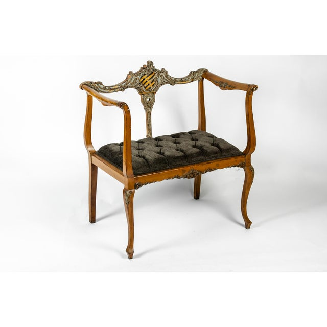 Belle Epoque Antique French Entry Bench For Sale - Image 3 of 7
