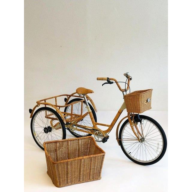 1980s Wicker and Bamboo Tricycle For Sale - Image 5 of 12