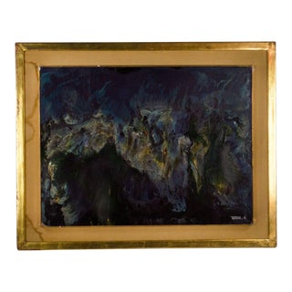 "Original Oil Painting on Board ""Erosion"" by Leonardo Nierman For Sale"