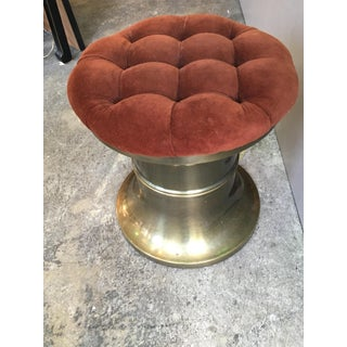 1970s Vintage Mastercraft Chunky Brass Stool Preview