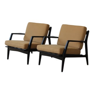 1950s Danish Modern Lounge Chairs by Ib Kofod Larsen - a Pair For Sale