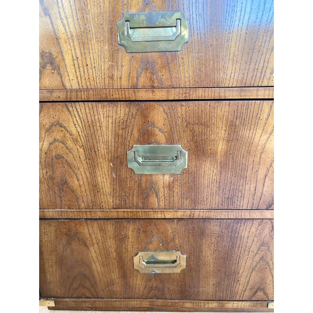 Late 20th Century Dixie Campaign Desk With Hutch For Sale - Image 11 of 13