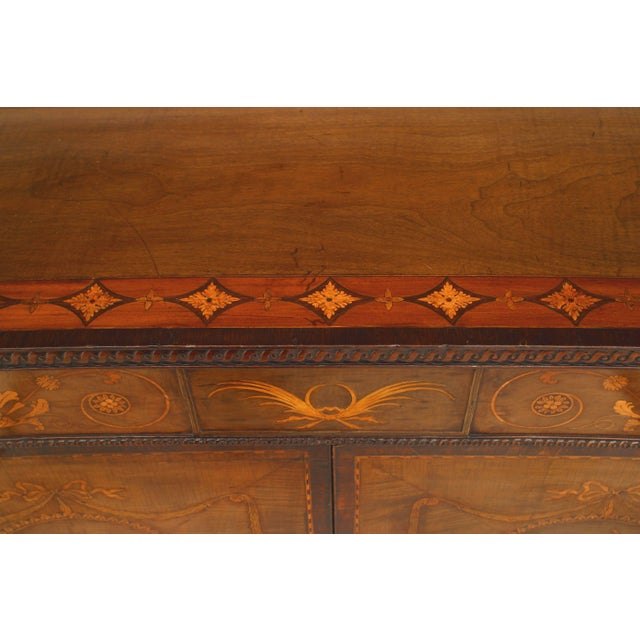 Rare and Important 18th Century English Adam Commode For Sale - Image 4 of 8