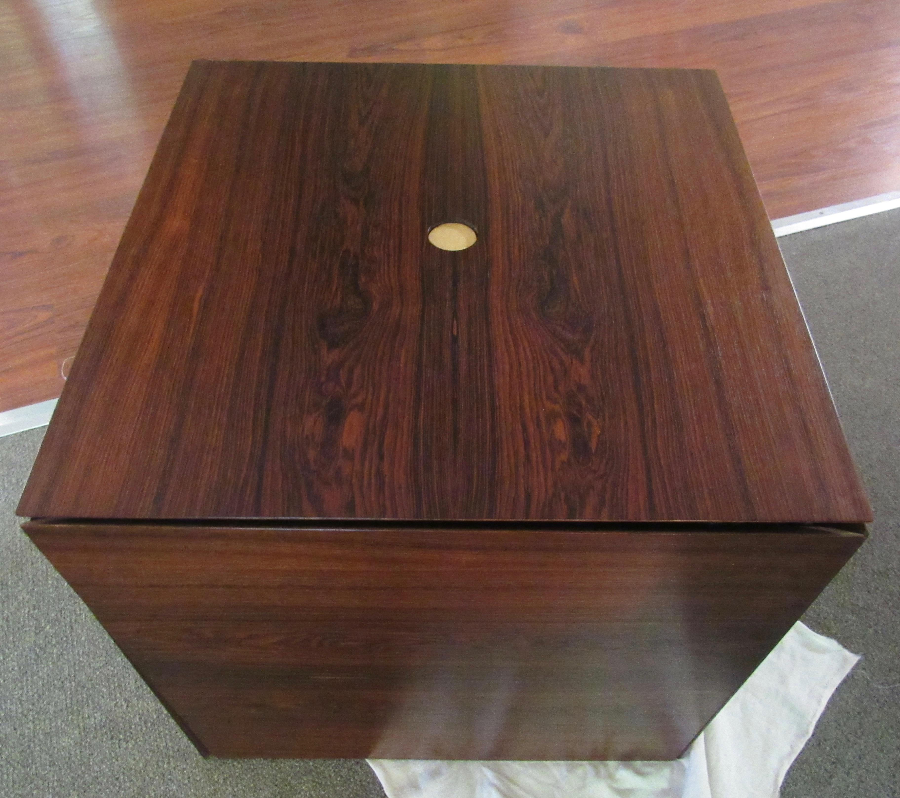 Rosewood Puzzle Cube Nesting Tables   Set Of 6   Image 7 Of 7