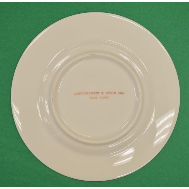 Abercrombie & Fitch 1950s Vintage Frank Vosmansky for Abercrombie & Fitch Mfh Huntsman Plate For Sale - Image 4 of 6