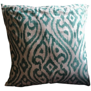 Bar III Ikat Cotton Euro Pillow Cover For Sale