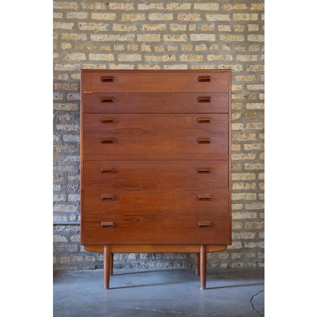 Wood 1960s Børge Mogensen Highboy Dresser For Sale - Image 7 of 7