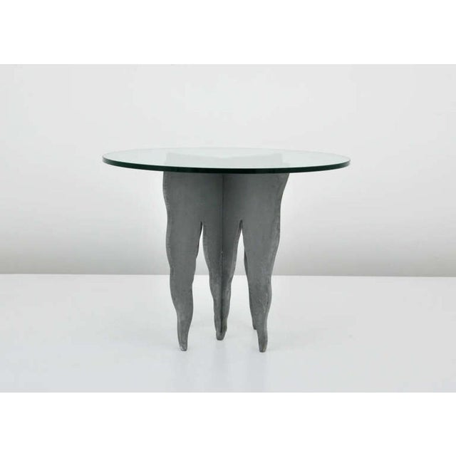 Pucci De Rossi Steel And Glass End Side Table - Image 3 of 6