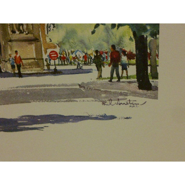 "Phil Austin ""Washington Square"" United Airlines Print For Sale - Image 4 of 5"