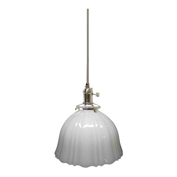 Translucent milk glass lamp shade chairish aloadofball Gallery