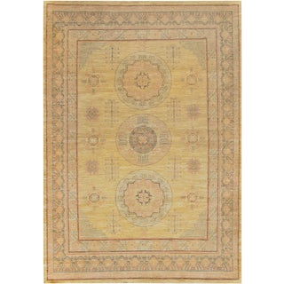 "Mansour Genuine Handwoven Khotan Rug - 7'2"" X 10' For Sale"