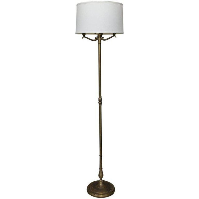 1940s French Brass Floor Lamp For Sale - Image 9 of 10