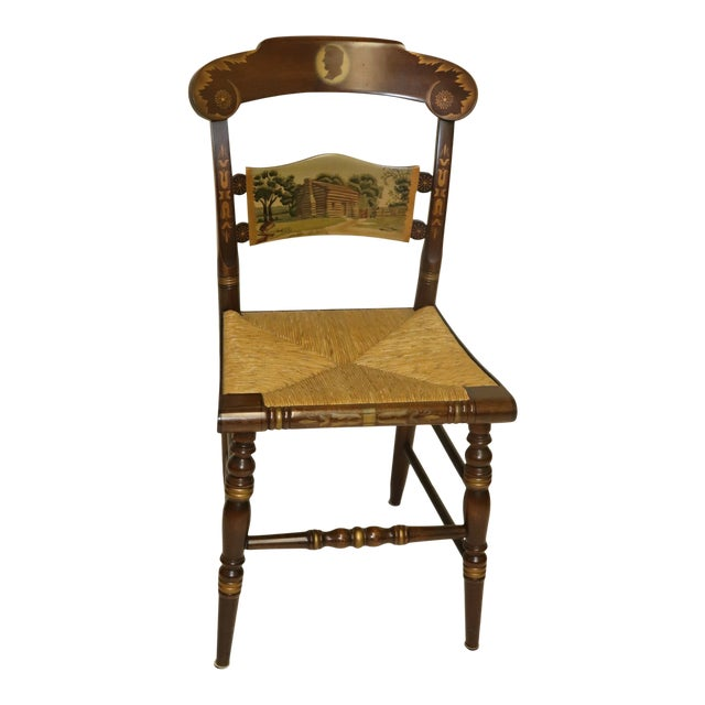 1970s Vintage Hitchcock Limited Edition Chair For Sale
