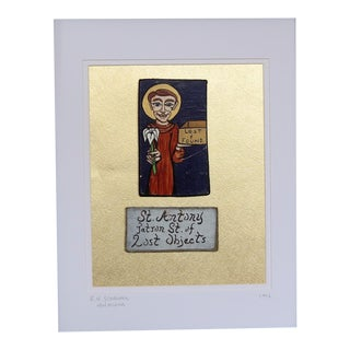 Patron Saint of Lost Objects. New Orleans Street Artist. 1992. Framed. For Sale