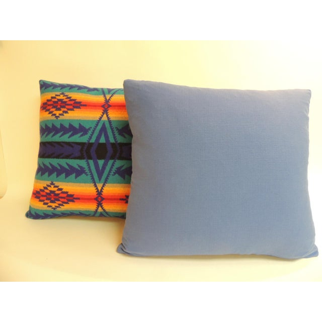 John E. Pendleton Pair of Vintage Pendleton Southwest Style Large Decorative Pillows For Sale - Image 4 of 6