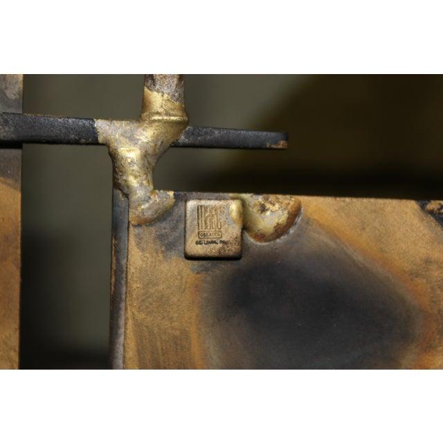 Marc Creates Vintage Brutalist Metal Coffee Table - Image 8 of 8