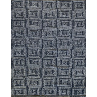 Swedish Flat-Weave Inspired Handwoven Wool Rug For Sale