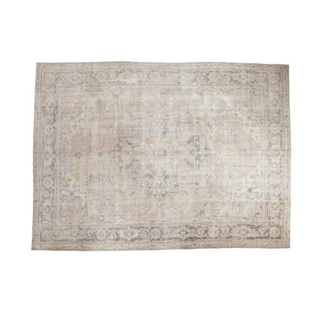 "Distressed Oushak Carpet - 8'9"" X 12'2"" - Image 1 of 10"