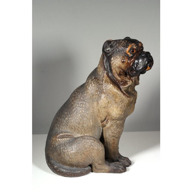 19th Century Austrian Cold Painted Terracota Dog - Image 2 of 3