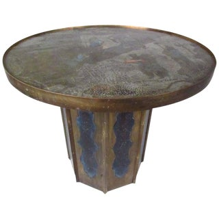 Mid-Century Bronze End Table by Philip and Kelvin LaVerne For Sale